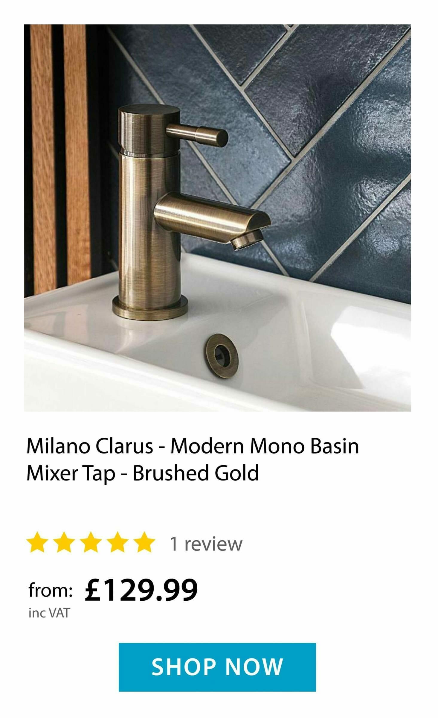 Milano Clarus - Mono Basin Tap