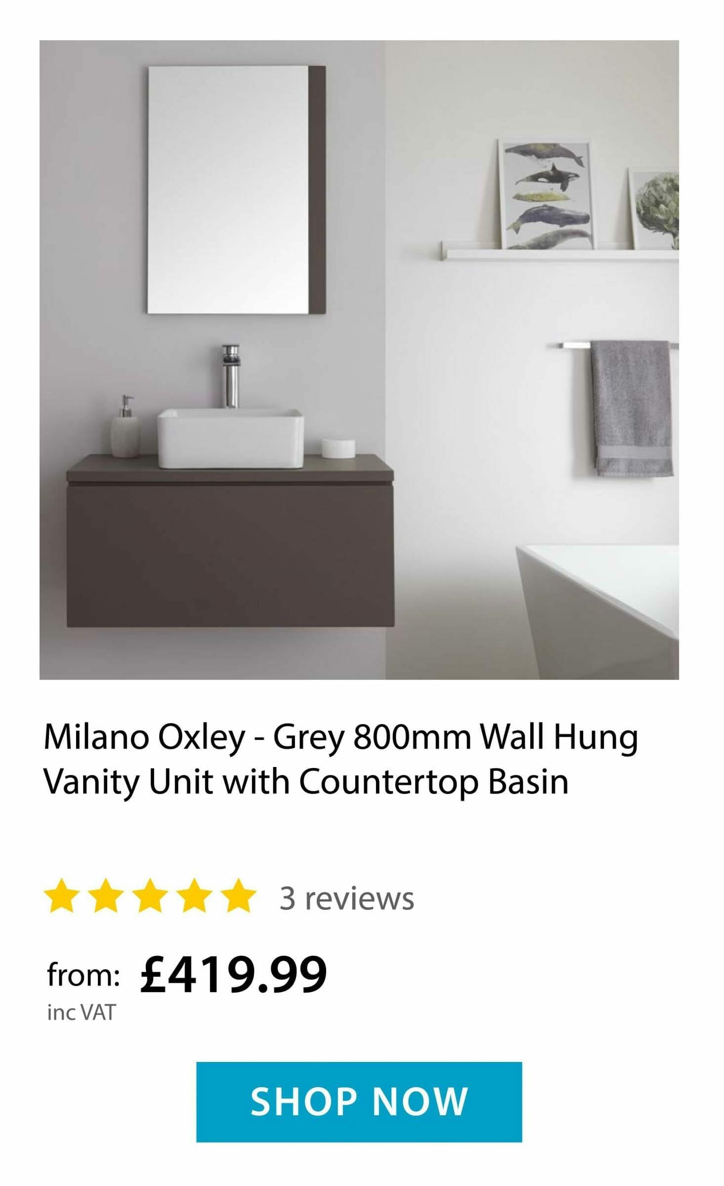Milano Oxley - wall hung vanity unit